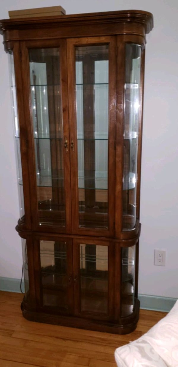 Curio - solid wood and glass. 4fc55306-c6dc-4a1e-9f41-21523a77c447