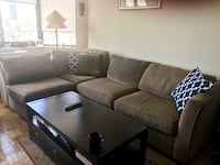 4 Piece sectional sofa from the Doorstore, microfiber, original price $2297, receipt available. Treated for fabric protection. New York, 10016