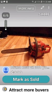 selling for $110 chainsaw brand new $350+ 3154 km