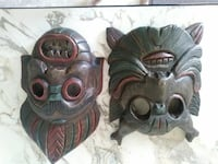 2 Polynesian wooden masks Mount Airy, 21771