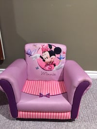 Purple and pink minnie mouse chair