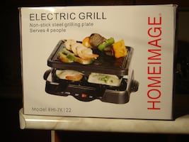 BRAND NEW NEVER OPENED INDOOR OR OUTDOOR HOMEIMAGE ELECTRIC GRILL!