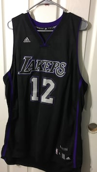 Black and gray Adidas Lakers 12 jersey size L Indio, 92201