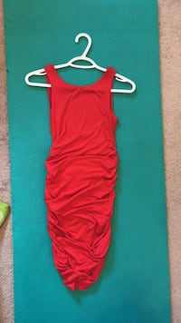 Size small red rouched dress Edmonton, T5T 3S4