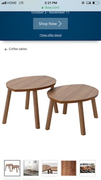 Stockholm nesting table a set of two Calgary, T2L 1Z4