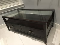 2 Piece - coffee table and side table with glass tops