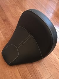 2017 Indian Scout black leather seat.