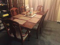 rectangular brown wooden table with four chairs dining set Delta, V4C 5W1
