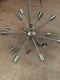 """Hanging Light needs re-wired on 4 lamp holders 27""""x27""""x27"""" $25"""