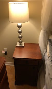 Nightstand + Lamp