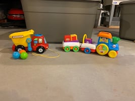 Baby Toddler Toys - VTech Dump and Go Truck & Fisher Price Train
