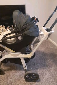 Three piece orbit baby stroller comes with baby car seat accessories