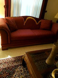 brown fabric sofa with throw pillows Virginia Beach, 23462