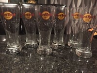 Hard Rock Cafe Glasses 10$ each or 50$ for six