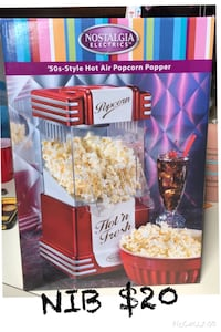 Never used. Hot air popcorn maker