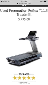 Free motion t11.3 commercial treadmill Cumming, 30041