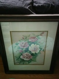white and pink flower painting with brown wooden frame Toronto, M3H 2P7