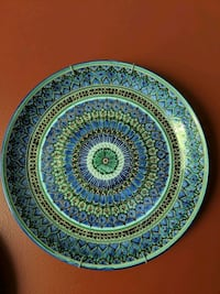 Hand painted platter 14.5 inches Jefferson