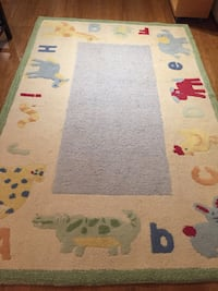 multicolored  baby and kids wool rug Roselle, 60172