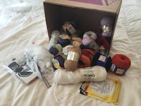 Crochet yarn 35.  and quilting Material 15.