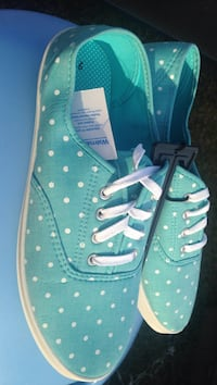 green-and-white polka-dot low-top sneakers Galivants Ferry, 29544