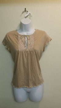 Sweet Junior's Top w/ Embroidery & Tie @ Neck - LG