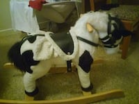 white and black horse plush toy Osceola, 46561