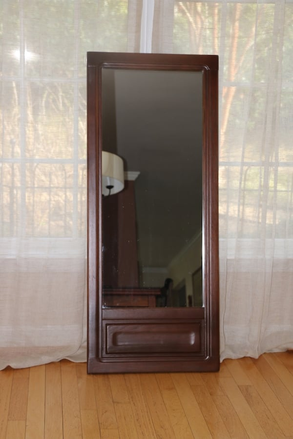 Vintage Mirror. Tall Wall Hanging. Refinished f4dcab67-ed0f-46bd-84de-8e492ad643ea