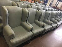 Grey Wingback Chair $30 each (many available)