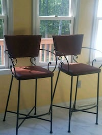 two black leather padded chairs Fredericksburg, 22406