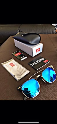 black framed Ray-Ban sunglasses with case Miami, 33165
