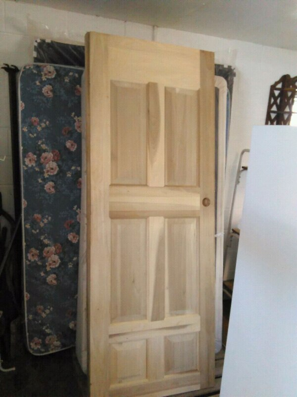brown wooden 2-panel door