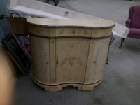 Painted Television Stand or Vanity with Storage and Drawer/ Wine Bar