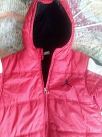 red and white and black zip-up jacket Brodheadsville
