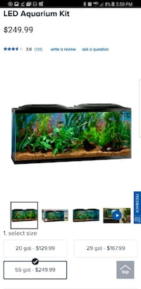 55 Gallon Fish Tank w/stand and extras Springfield, 22150