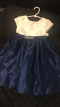White and blue party dress gymboree size 4t