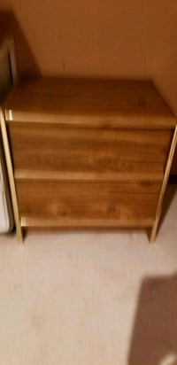 brown wooden 2-drawer chest Edmonton, T6L 5Z8
