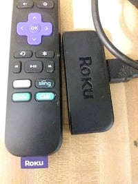 Roku and remote with hdmi cord