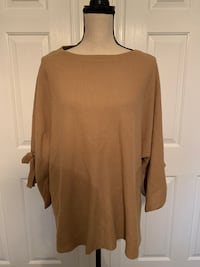NWT - Chico's Tie Sleeve Pullover Sweater Freehold