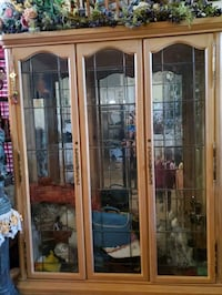 Silver apple Display cabinet