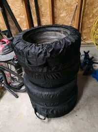 Toyo snow tires 205 55 R16 with rims for a Subaru, used 2 seasons