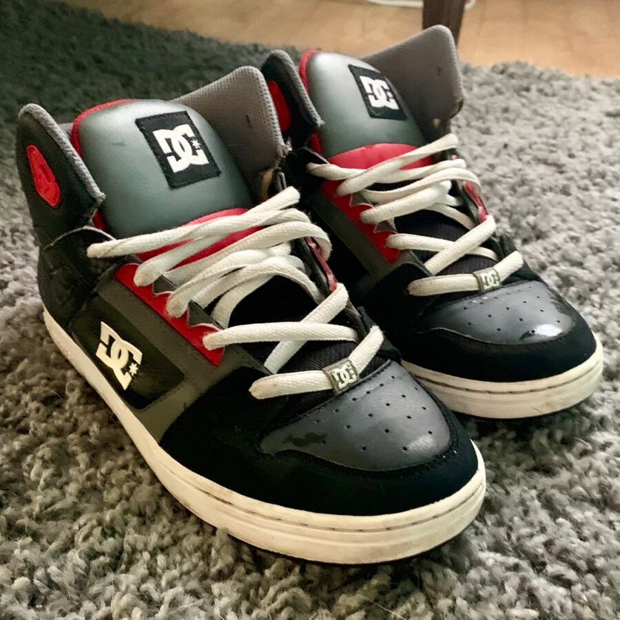 DC Gray/Black/Red  Skate Shoes