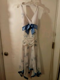 white and blue floral spaghetti strap dress Hagerstown, 21740