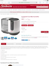 Sunbeam Humidifier Chatham, N7L 5A7