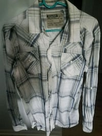 gray and white plaid button-up dress shirt Kenosha, 53142