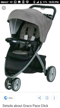 baby's black and gray jogging stroller Brooklyn