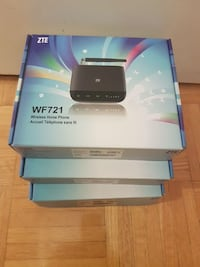 black ZTE WF721 wireless home phone box Toronto, M3N 1A2
