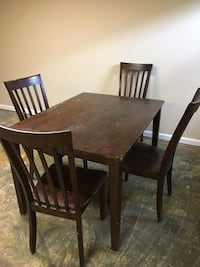 Wooden table and chairs 298 mi