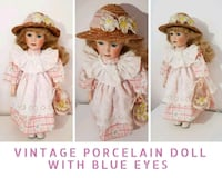 Vintage Porcelain Doll with Blue Eyes  Greater London, SW8 5AJ