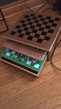 Brown wooden multi-game table Toronto, M9L 2P3